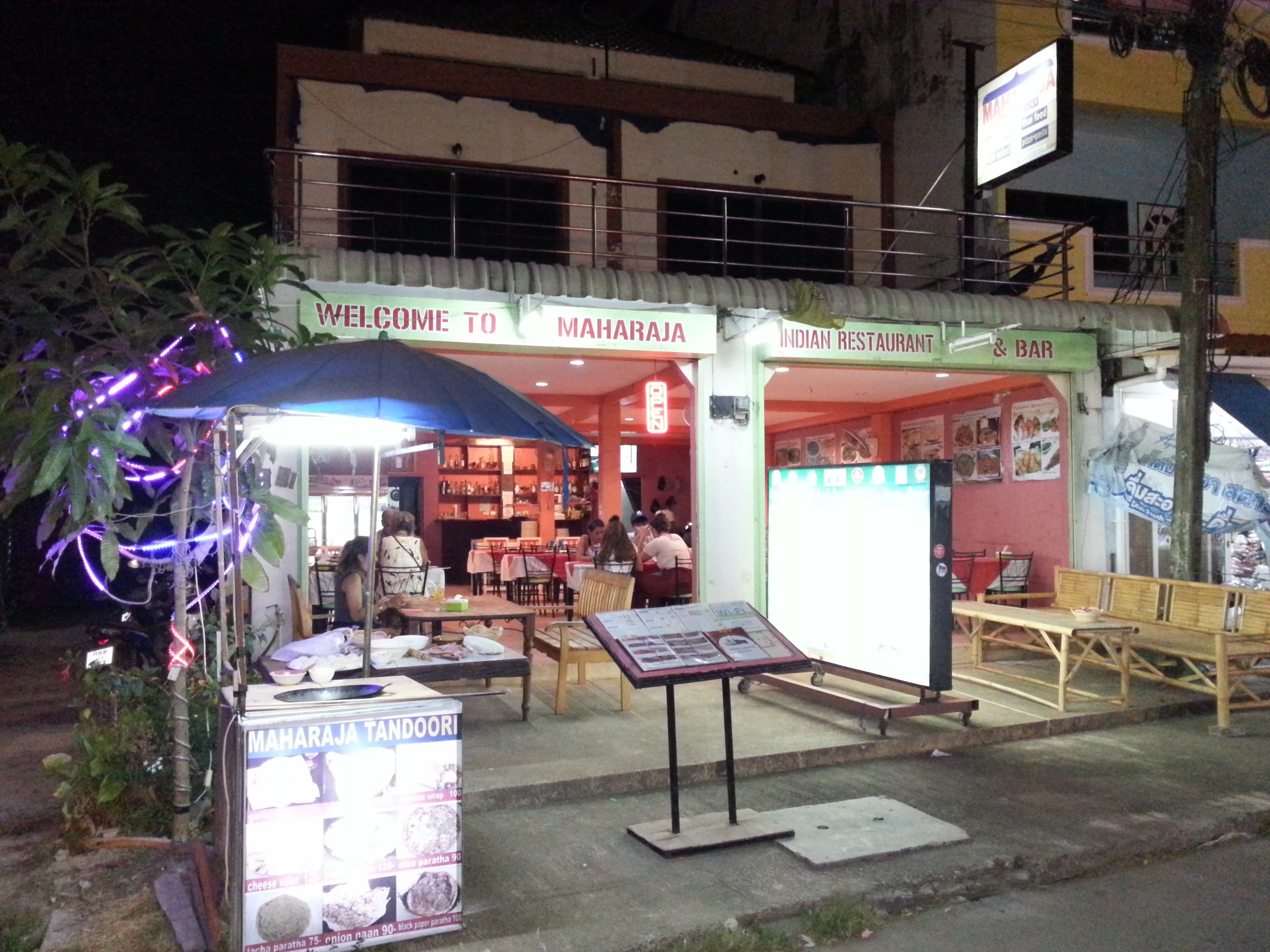 Maharaja Restaurant in Saladan on Koh Lanta