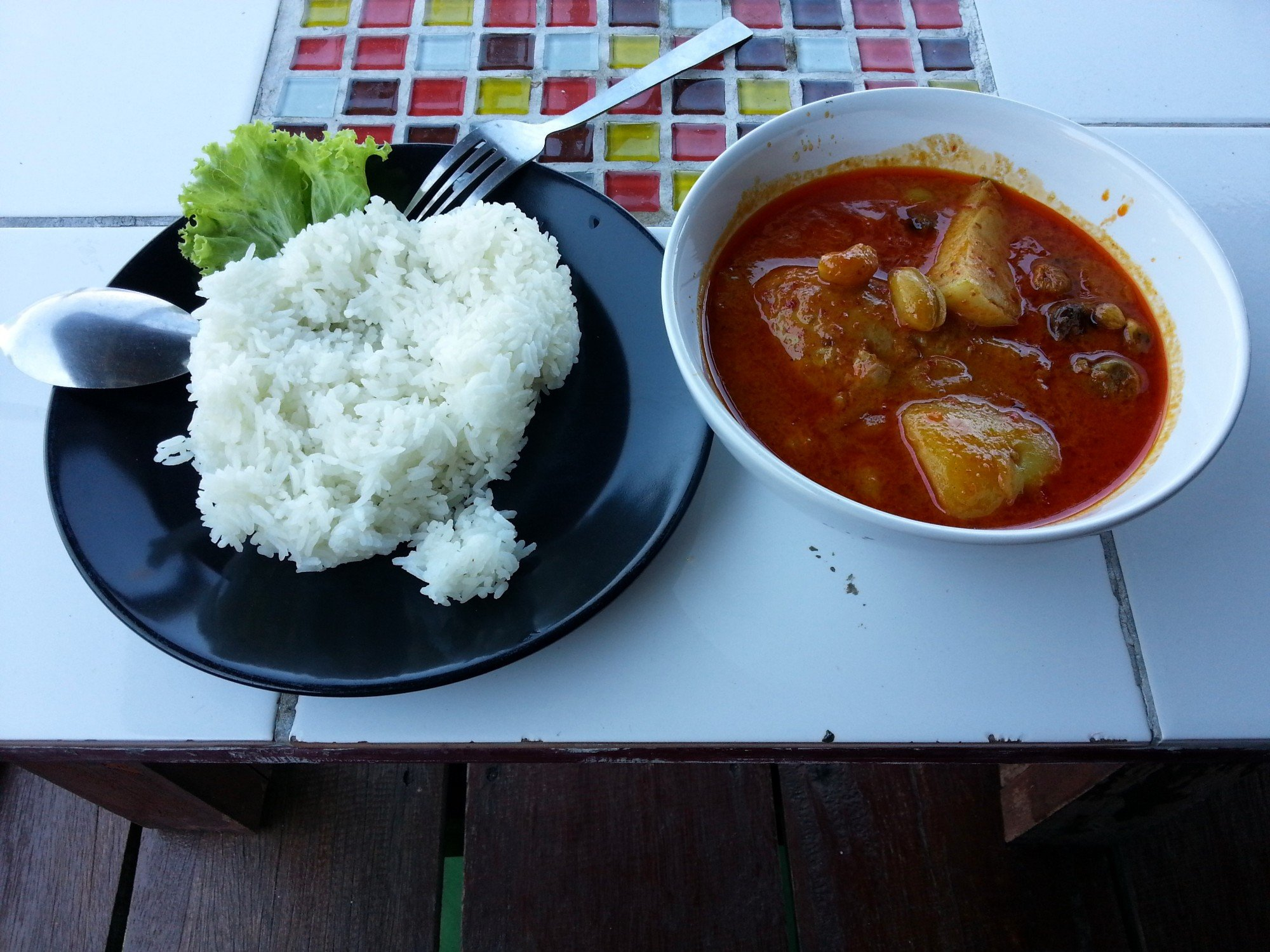 Massaman curry at the Sincere Guesthouse