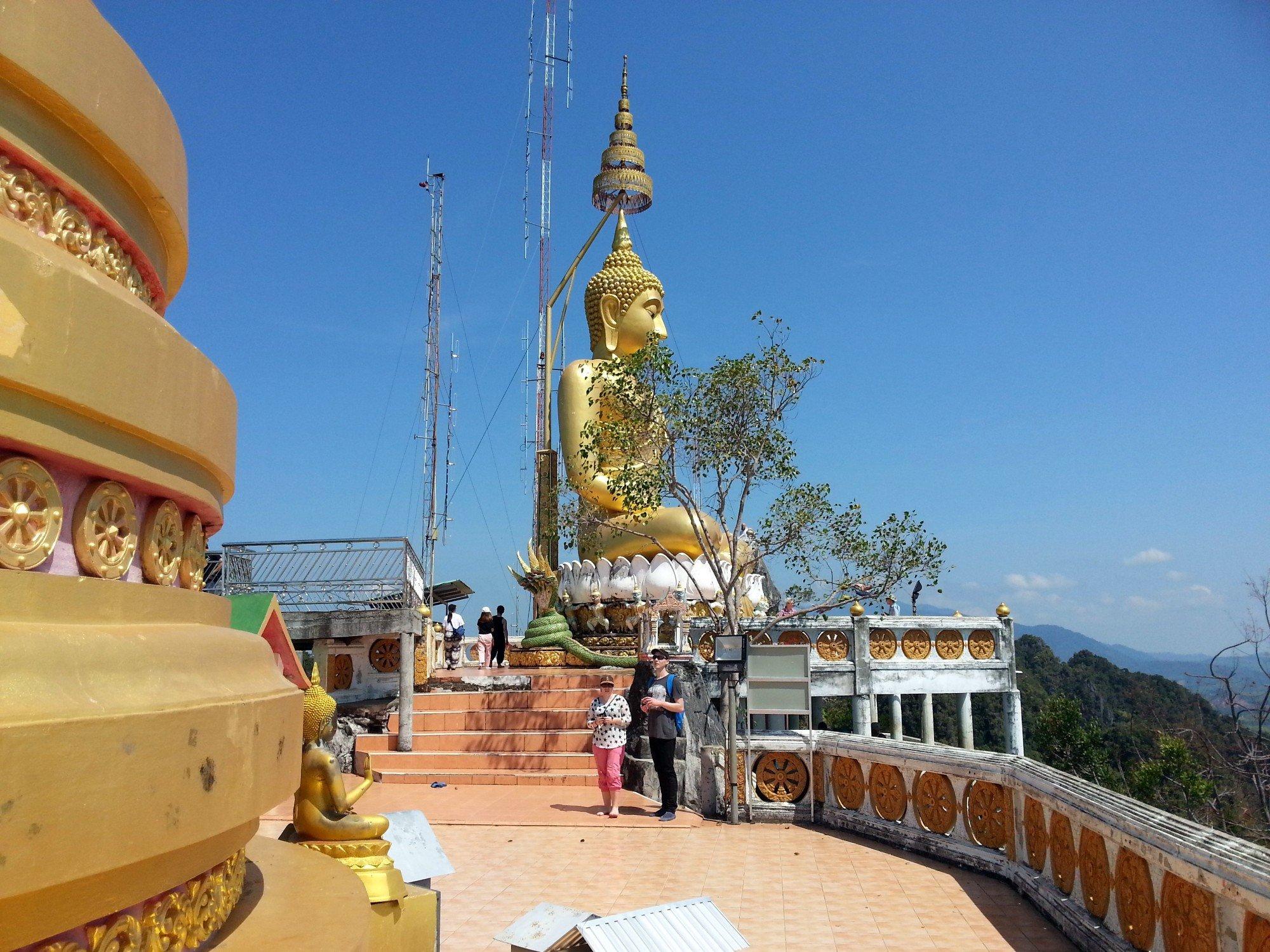 Mountain top Buddha statue at Wat Tham Suea