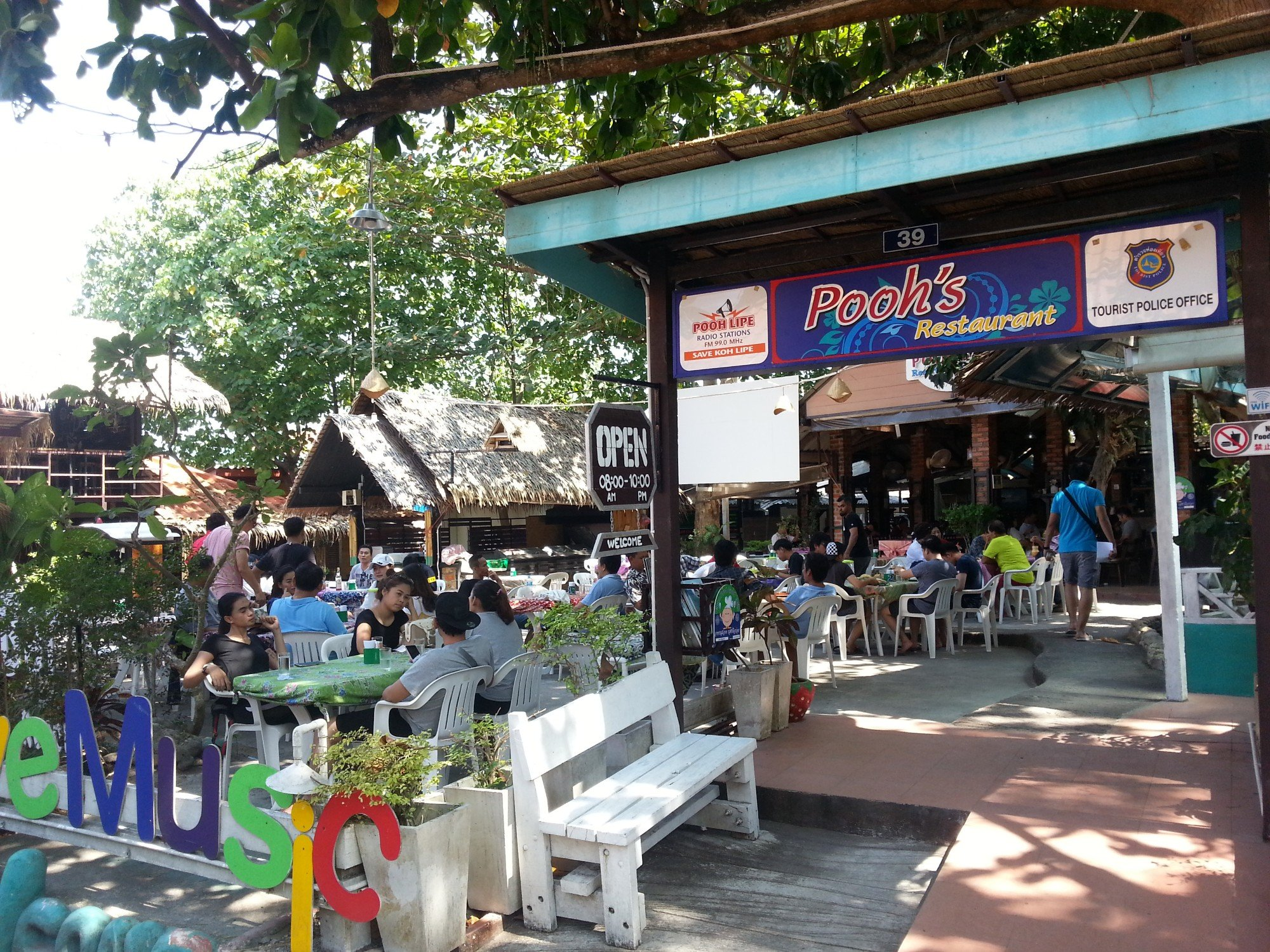 Pooh's Restaurant on Koh Lipe Walking Street