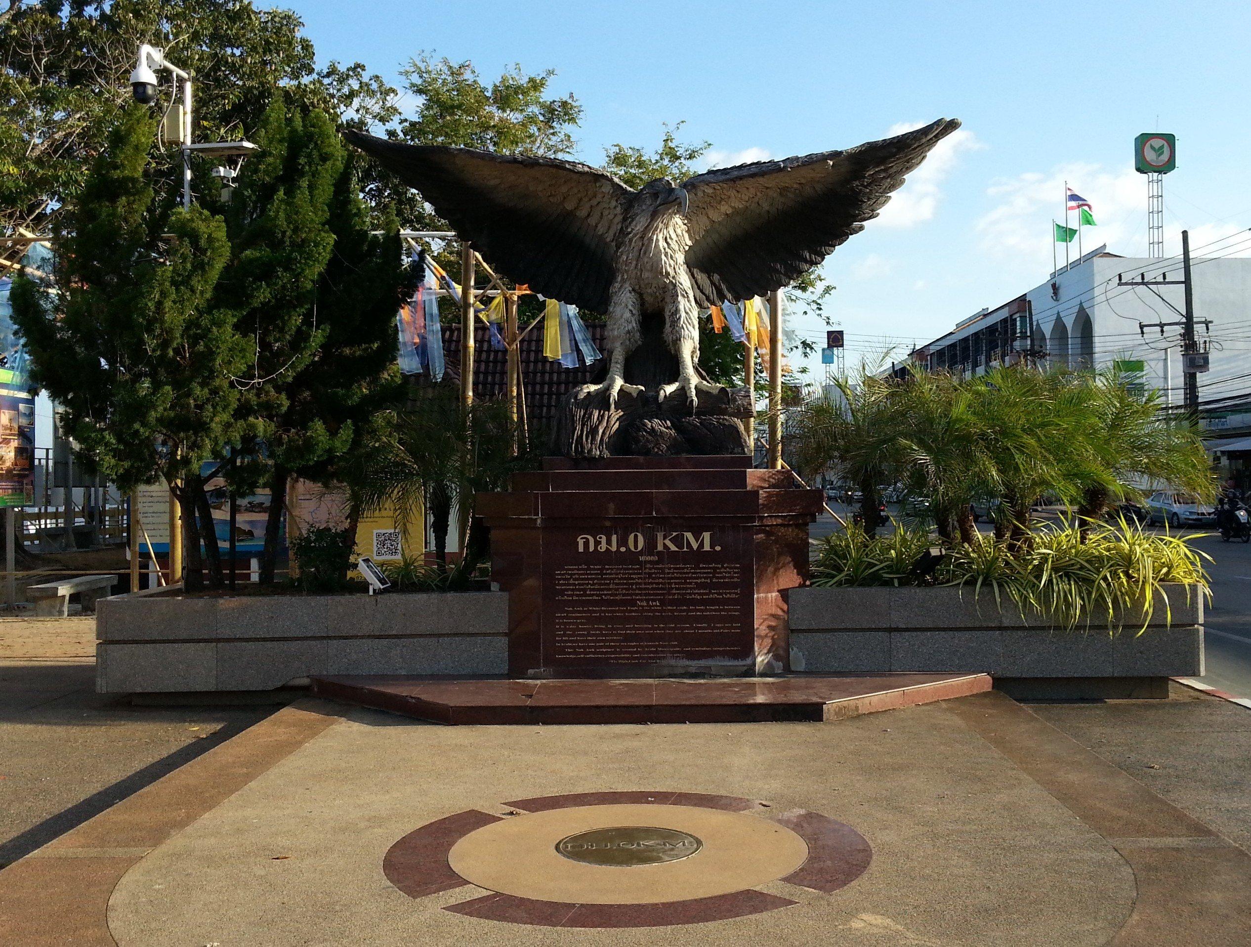 Sea Eagle Sculpture in Krabi Town