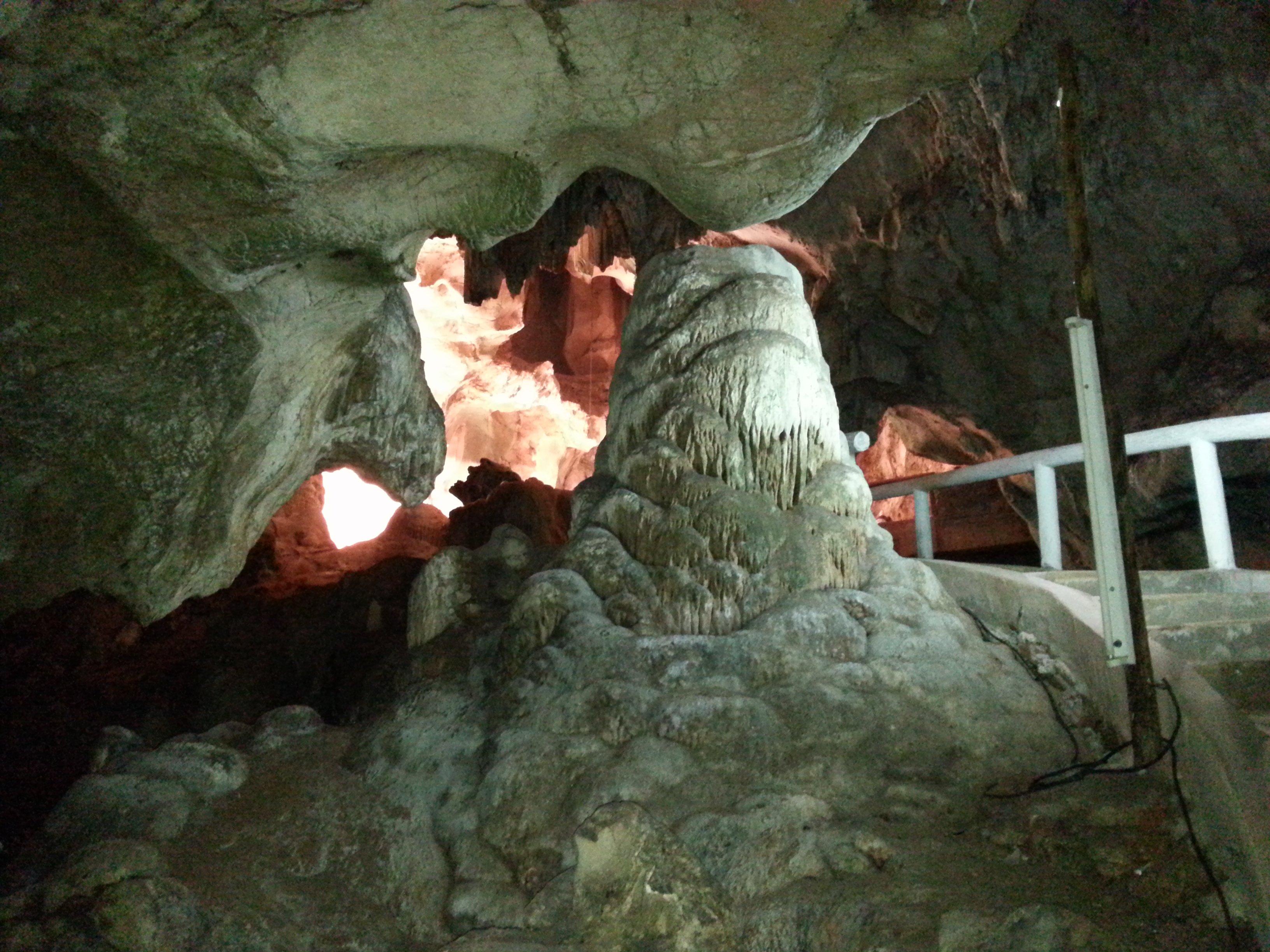 Stalactites in Khuha Sawan Cave