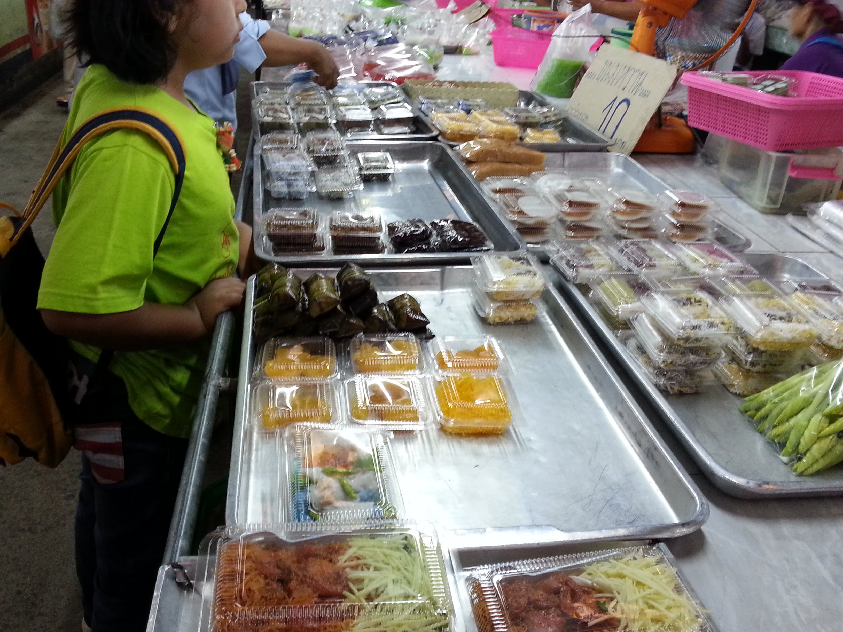 Thai cakes at Maharaj Food Market