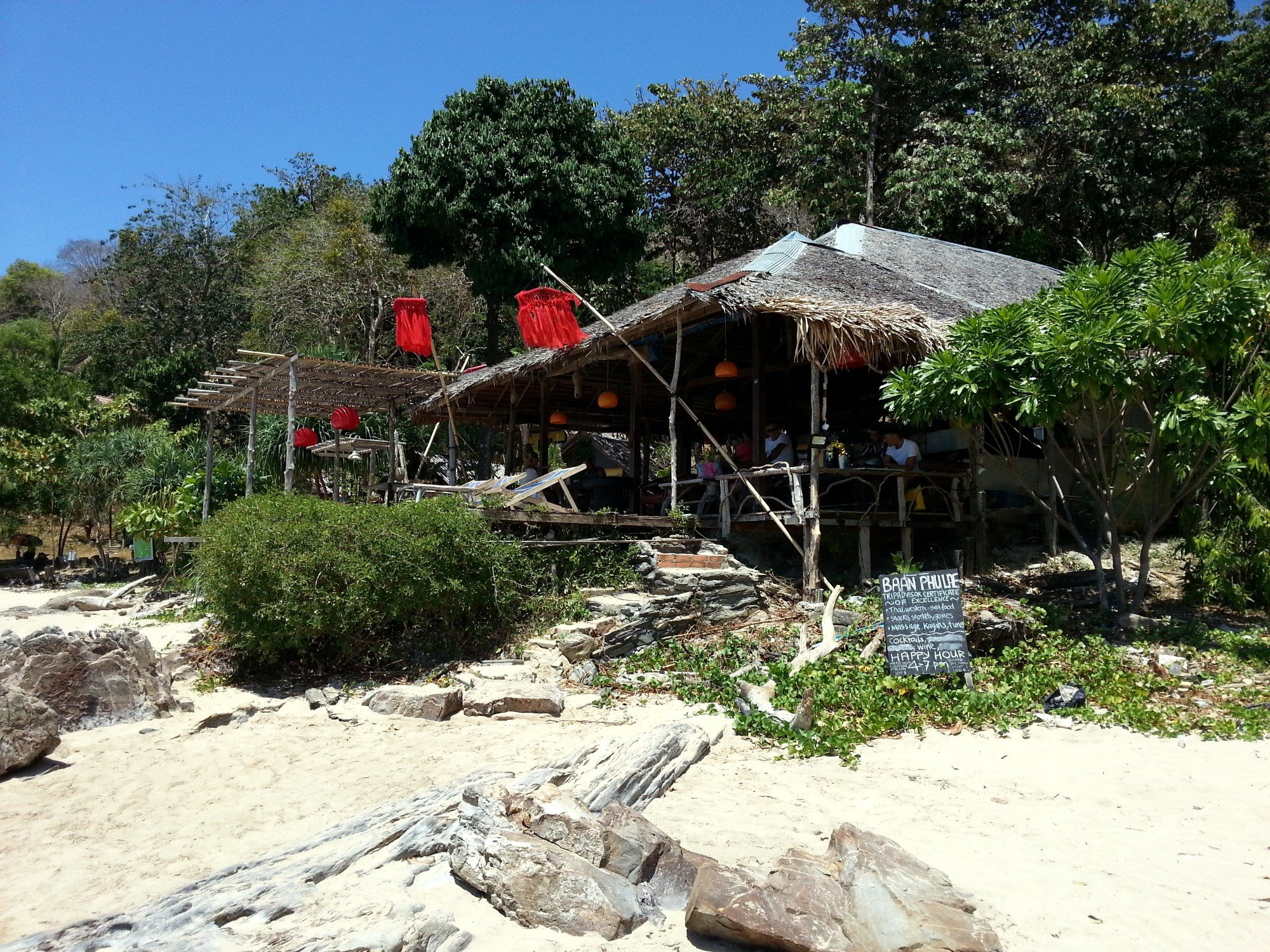 Beach front bar at Bamboo Beach