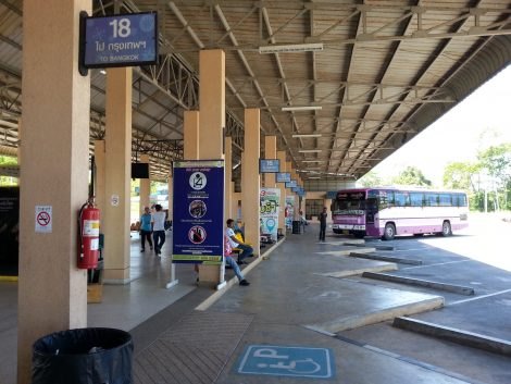 Inside Krabi Bus Terminal
