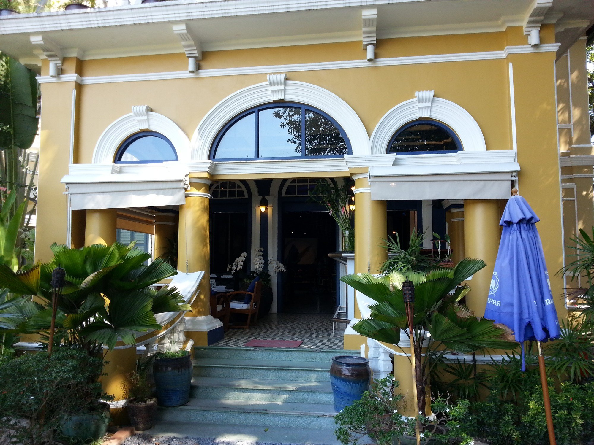 Main entrance to the Blue Elephant Restaurant