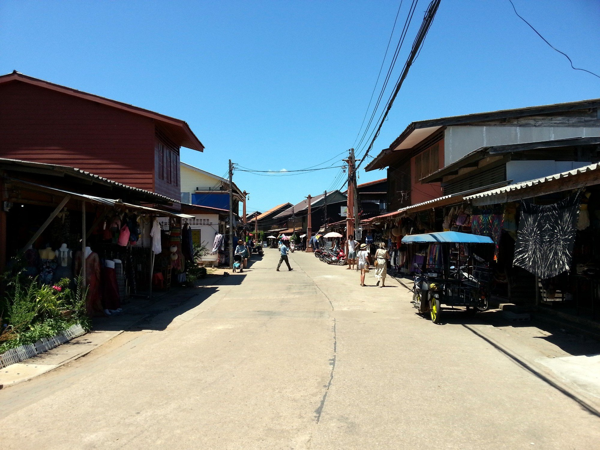 Main street in Koh Lanta Old Town