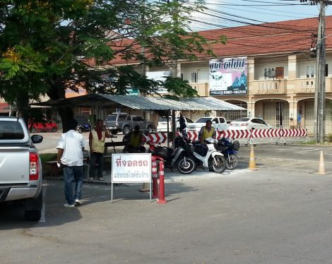 Motorbike taxis at Satun Bus Station