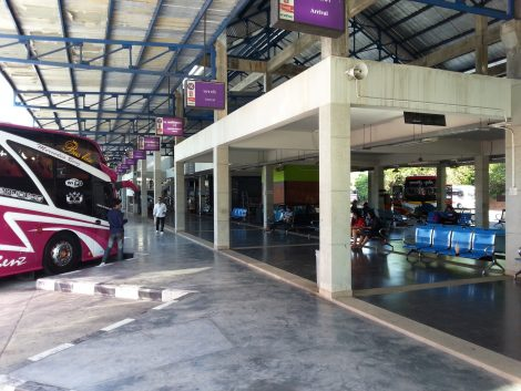 Platforms at Phuket Bus Terminal 2