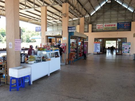 Shops and restaurants at Krabi Bus Terminal