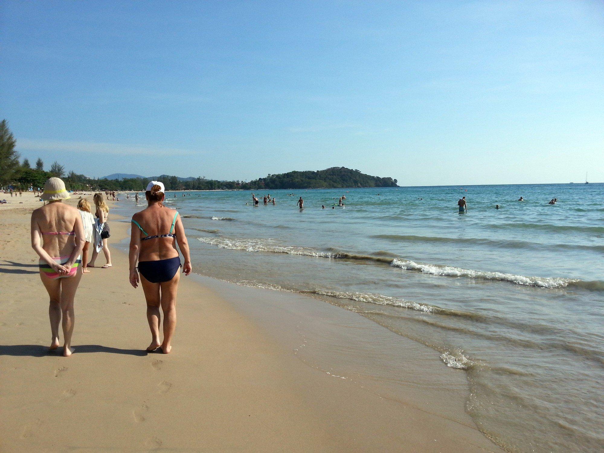Swimmers on Klong Dao Beach
