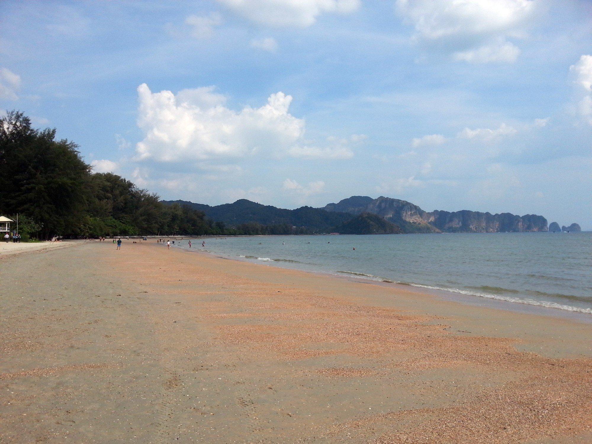Western end of Noppharat Thara Beach