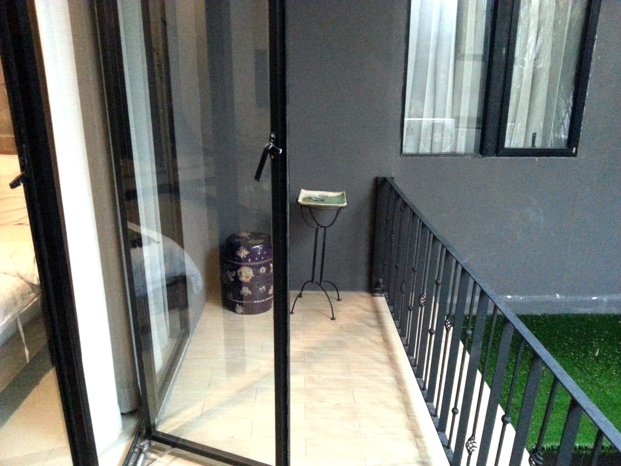 Balcony at the V Hotel Vajira