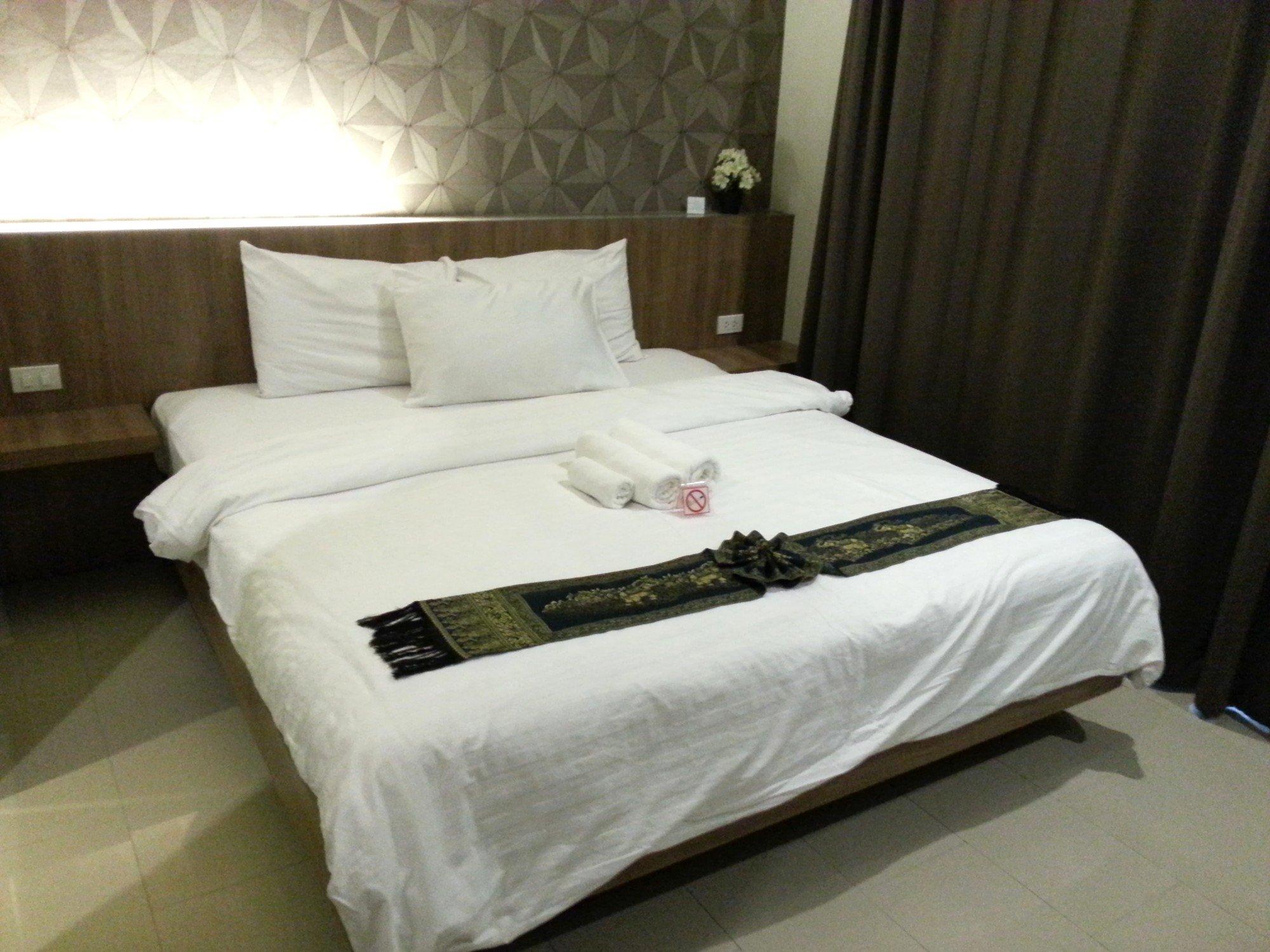 Bed at the V Hotel Vajira