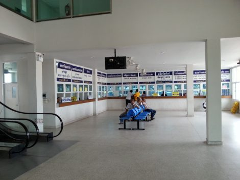 Ticket offices at Songkhla Bus Terminal