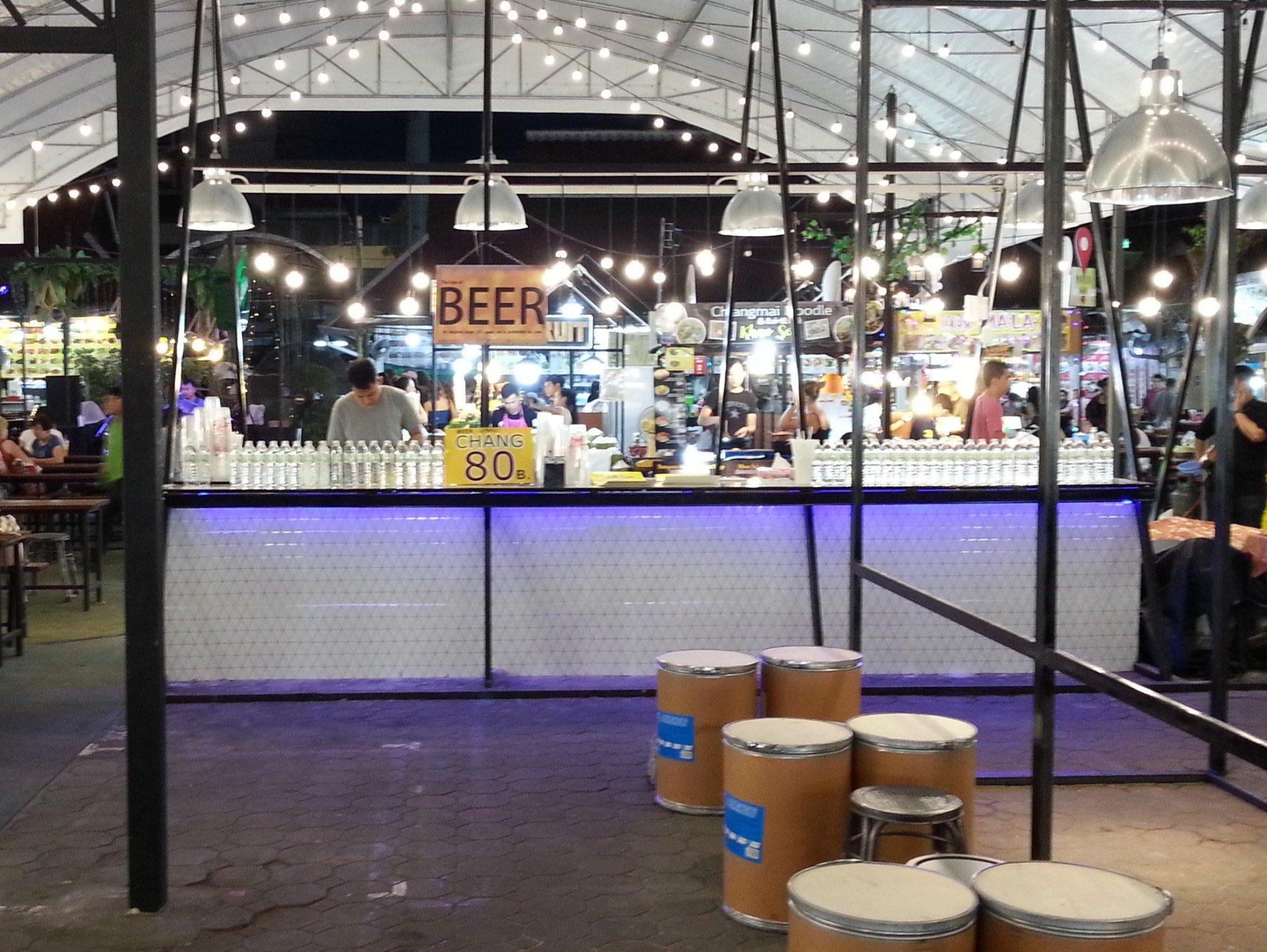 Beer station at Anusarn Market
