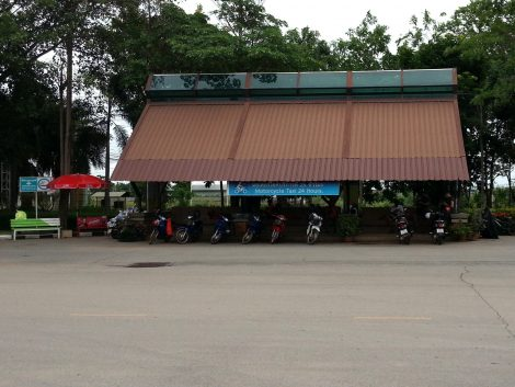 Motorbike taxi rank at Sukhothai Bus Terminal