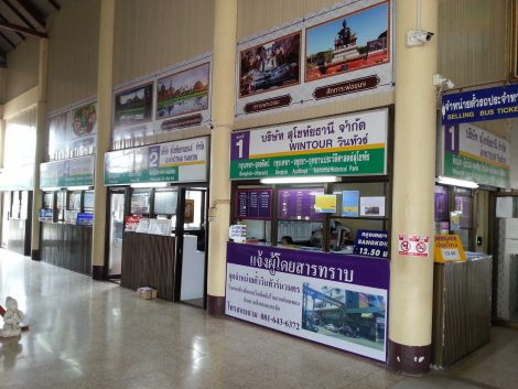 Ticket Offices at Sukhothai Bus Terminal