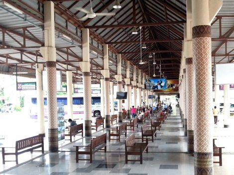 Waiting area at Sukhothai Bus Terminal