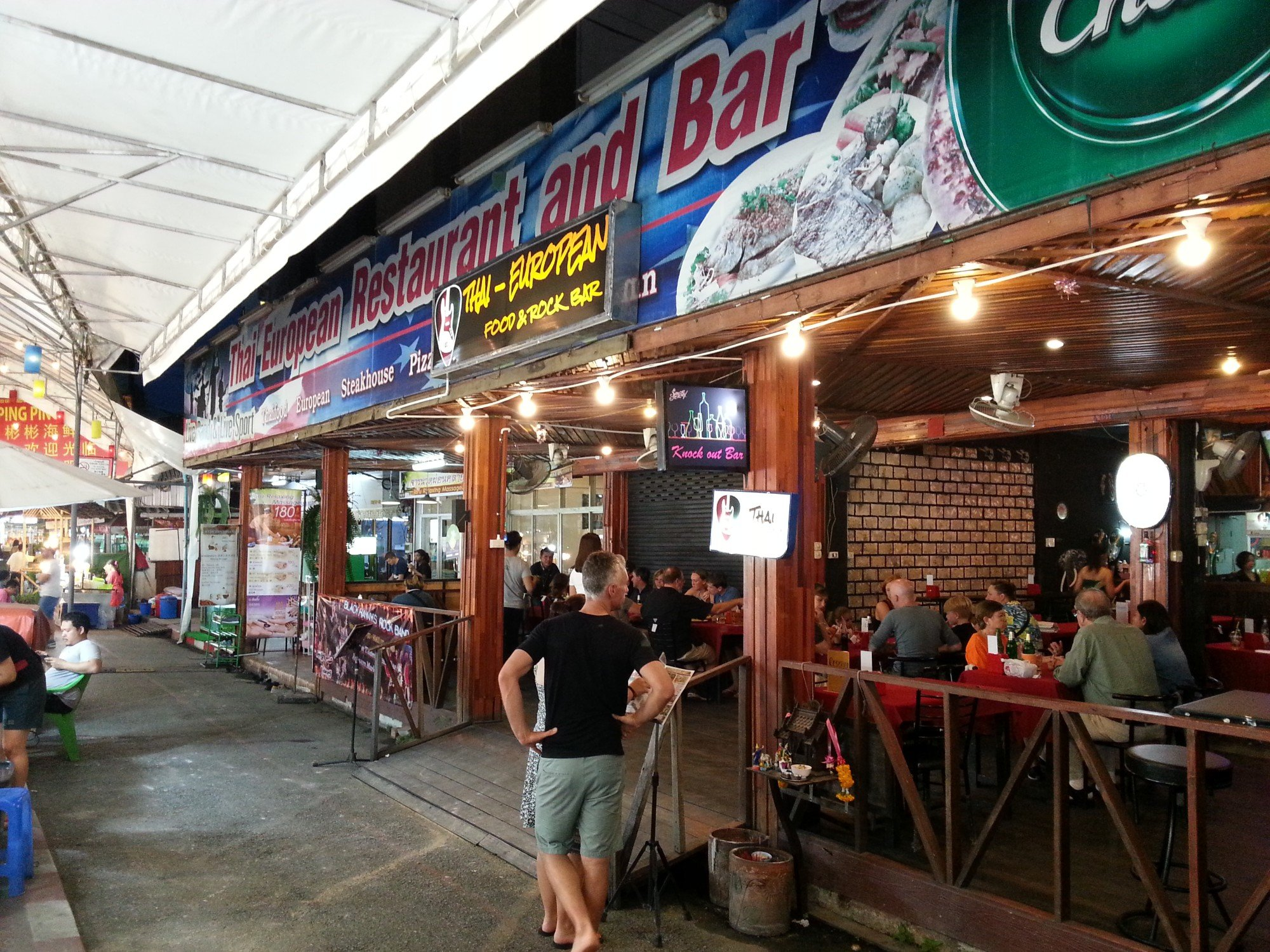 Western style bar and restaurant at Anusarn Market