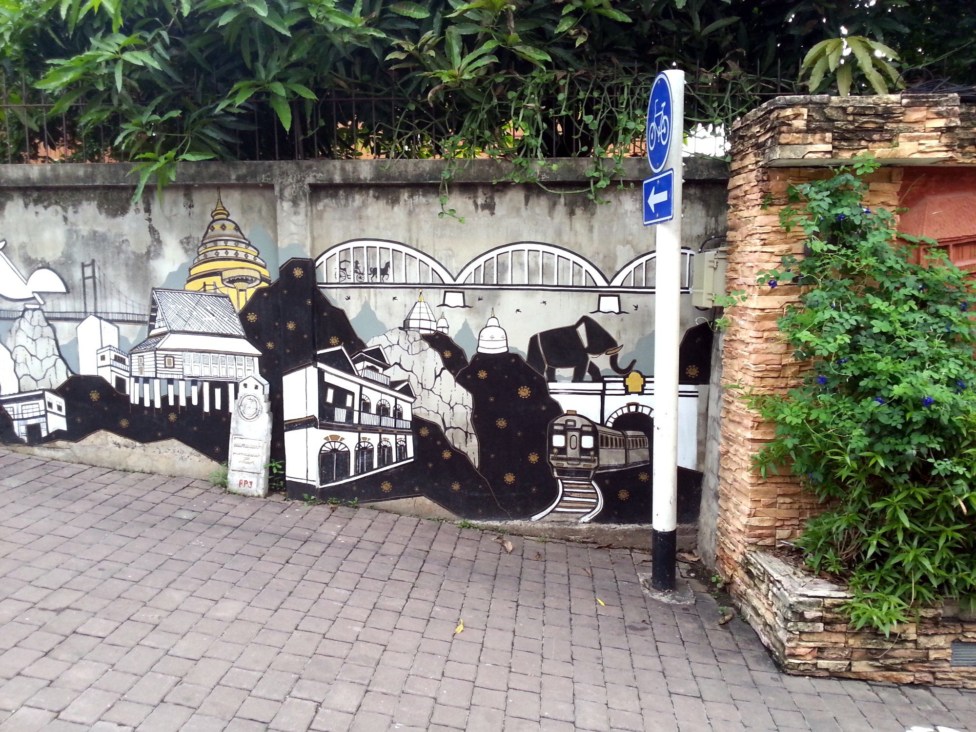 Attractions of Lampang mural