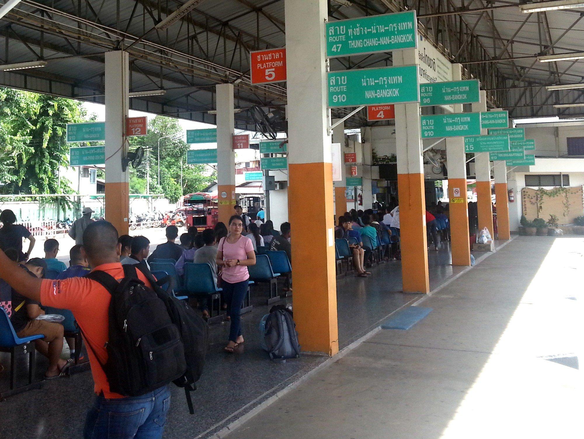 Bus platforms at Nan Bus Terminal