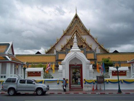 Entrance to Wat Suthat Thepwararam