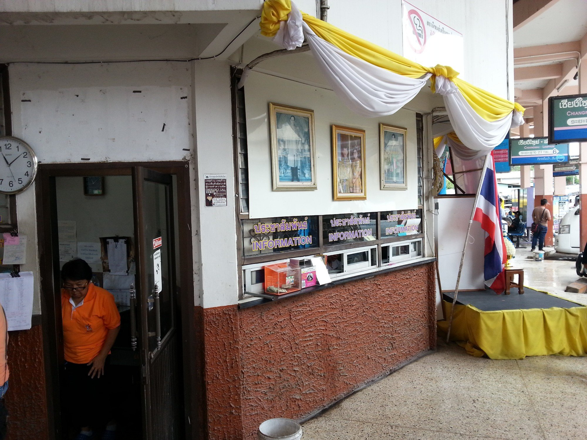 Information counter at Chiang Mai Bus Terminal 1