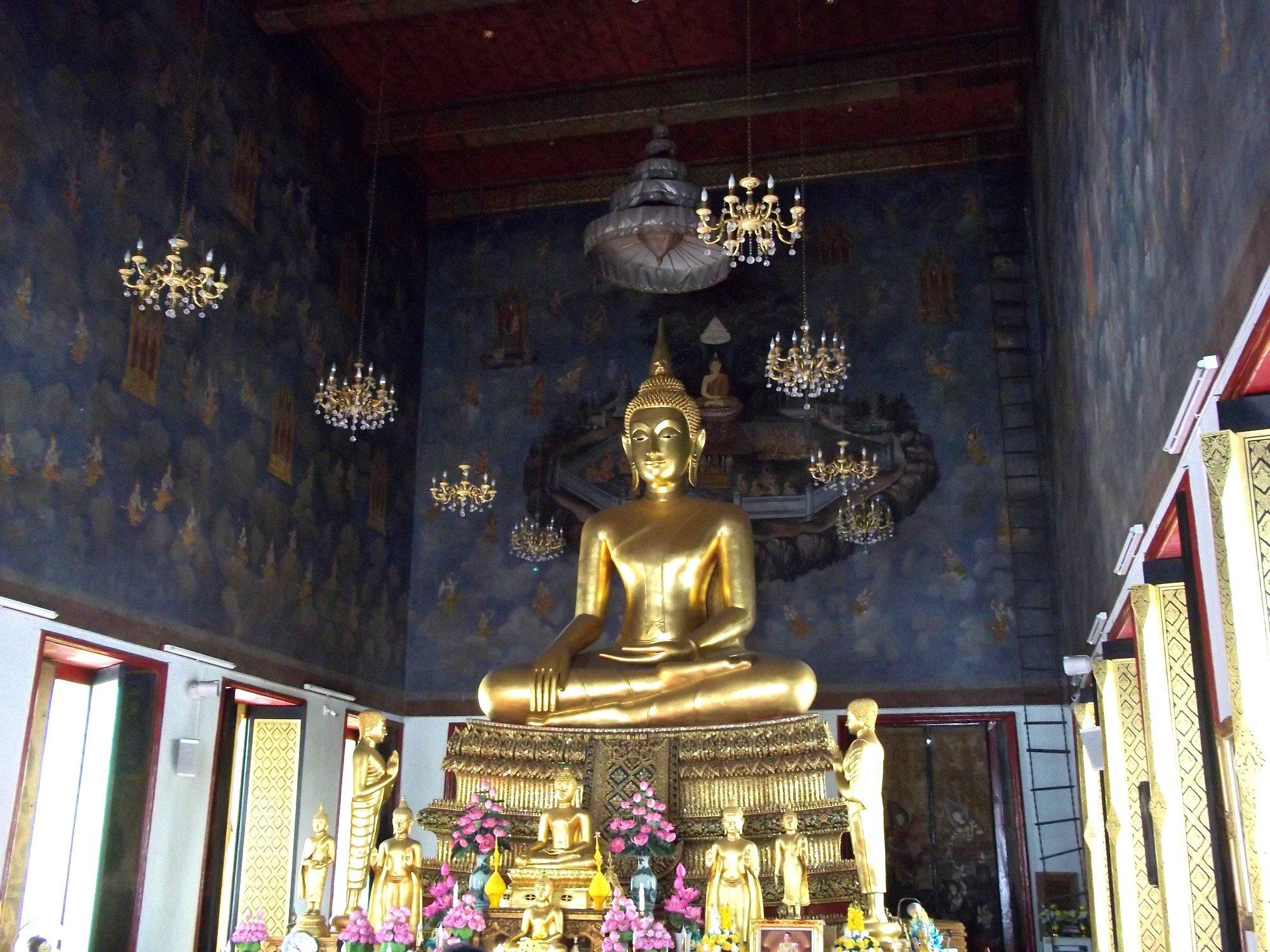 Inside the Ordination Hall at Wat Ratchanatda