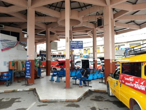 Local bus, minivan and shared taxi services at Chiang Mai Bus Terminal 1