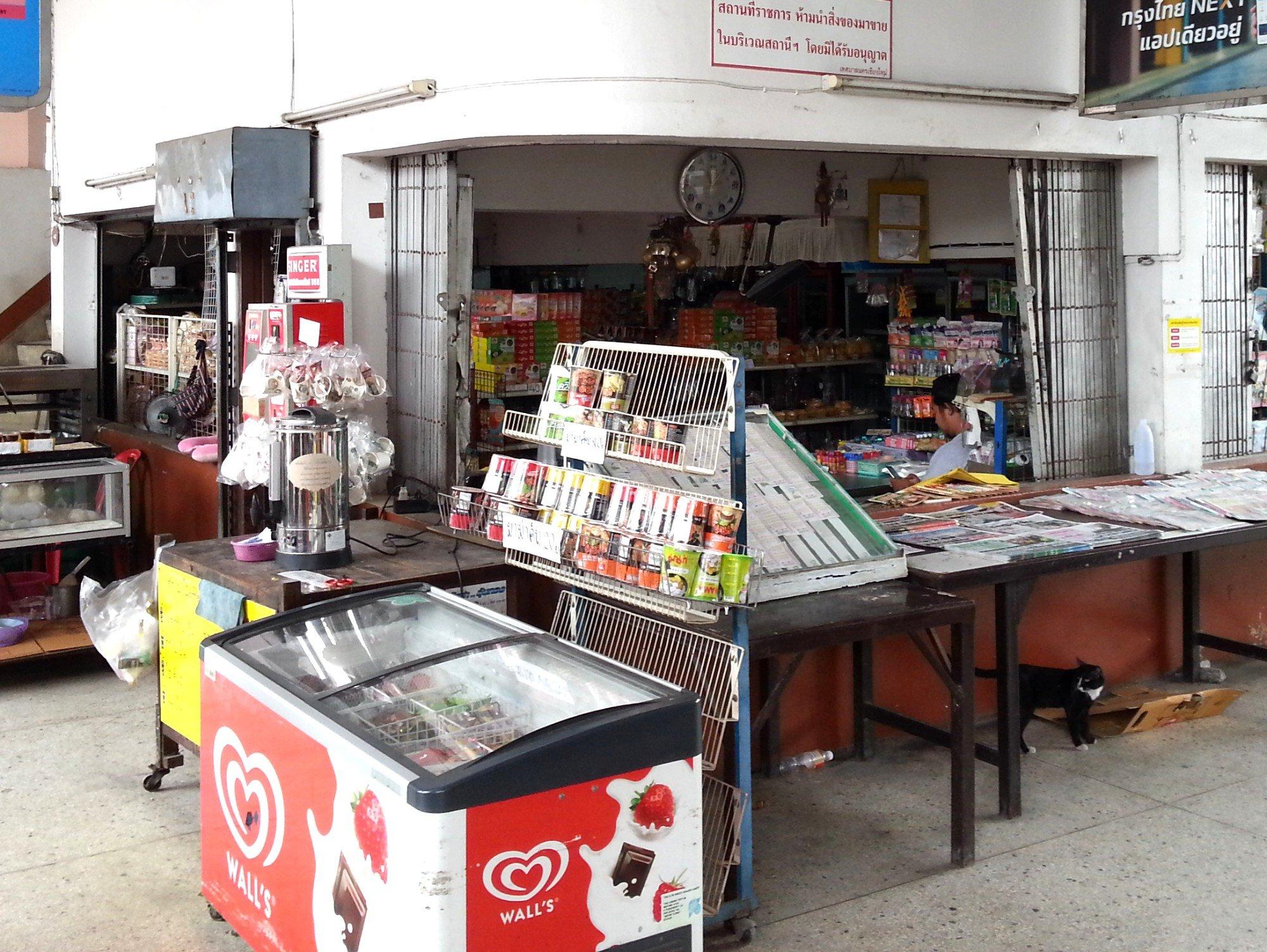 Small shops at Chiang Mai Bus Terminal 1