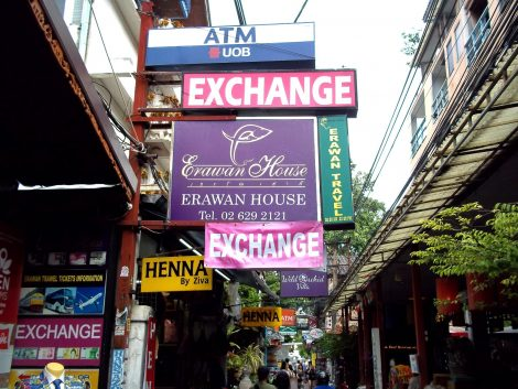 The Erawan House is on the busy Chana Songkhram Alley
