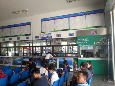 Ticket offices at Nan Bus Terminal