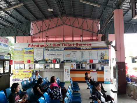 Ticket offices at Phrae Bus Station