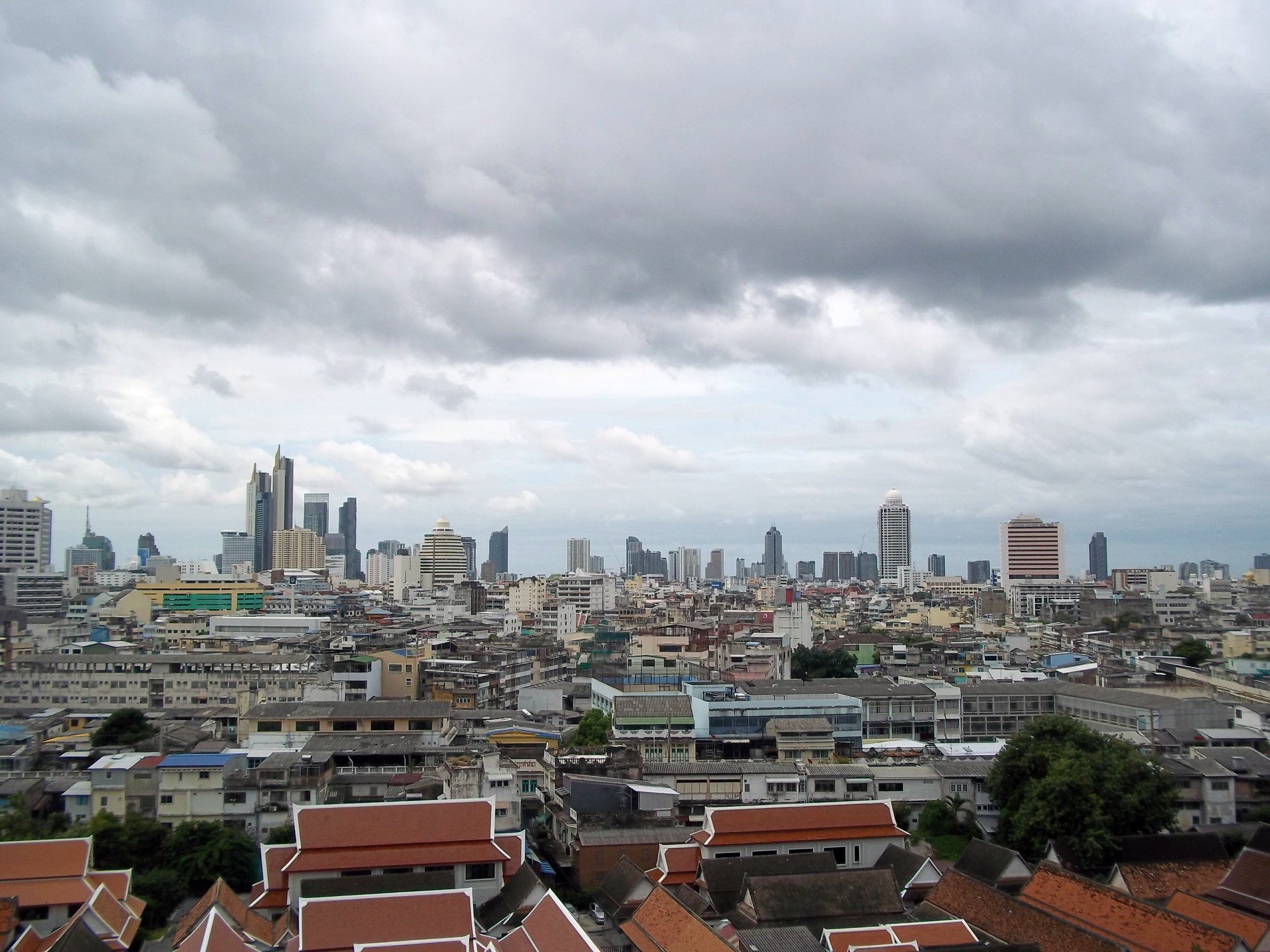 View over Bangkok from Wat Saket
