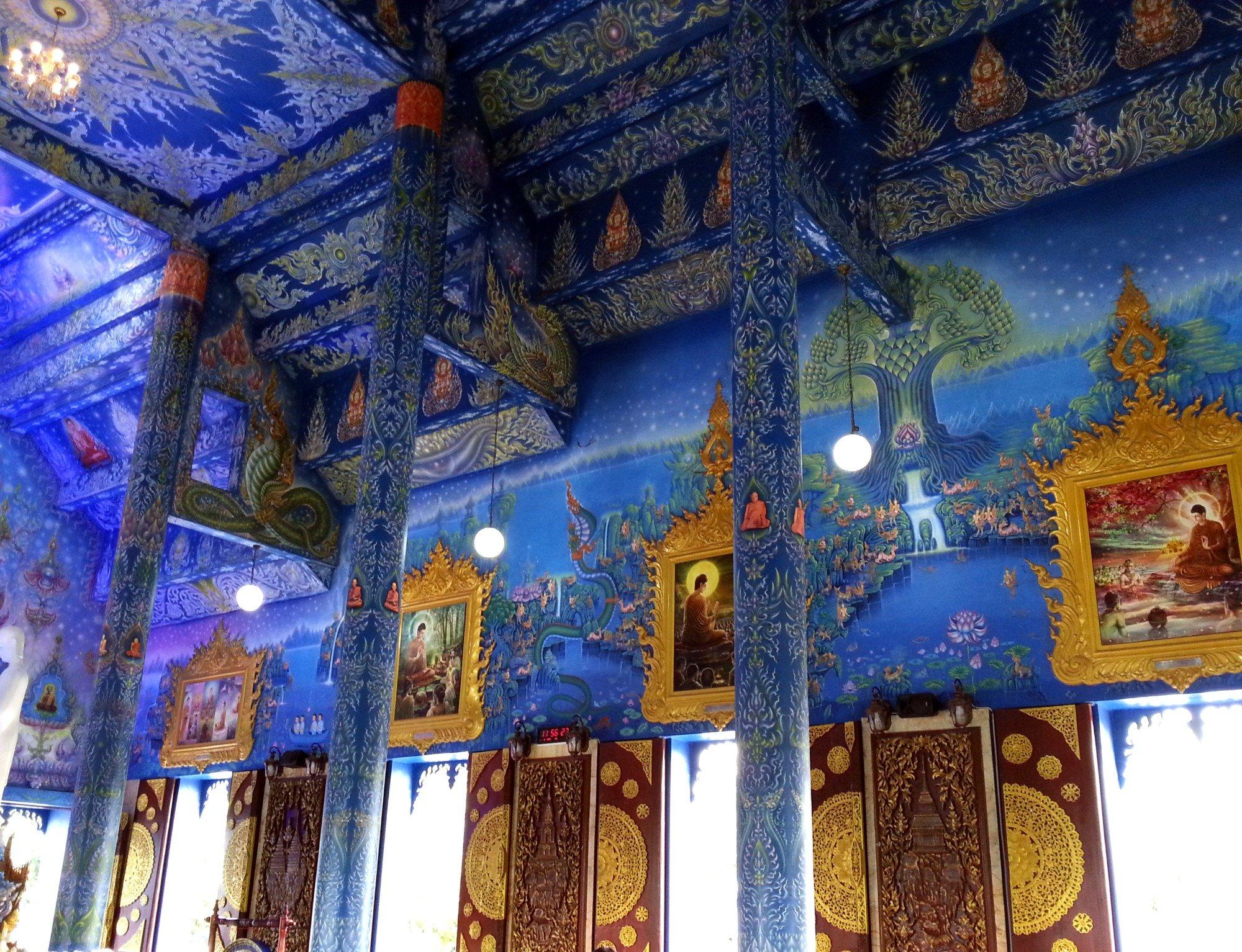 Wall murals at Wat Rong Seur Ten