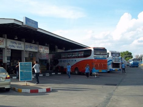Bus platforms at Nakhon Ratchasima Bus Terminal 2