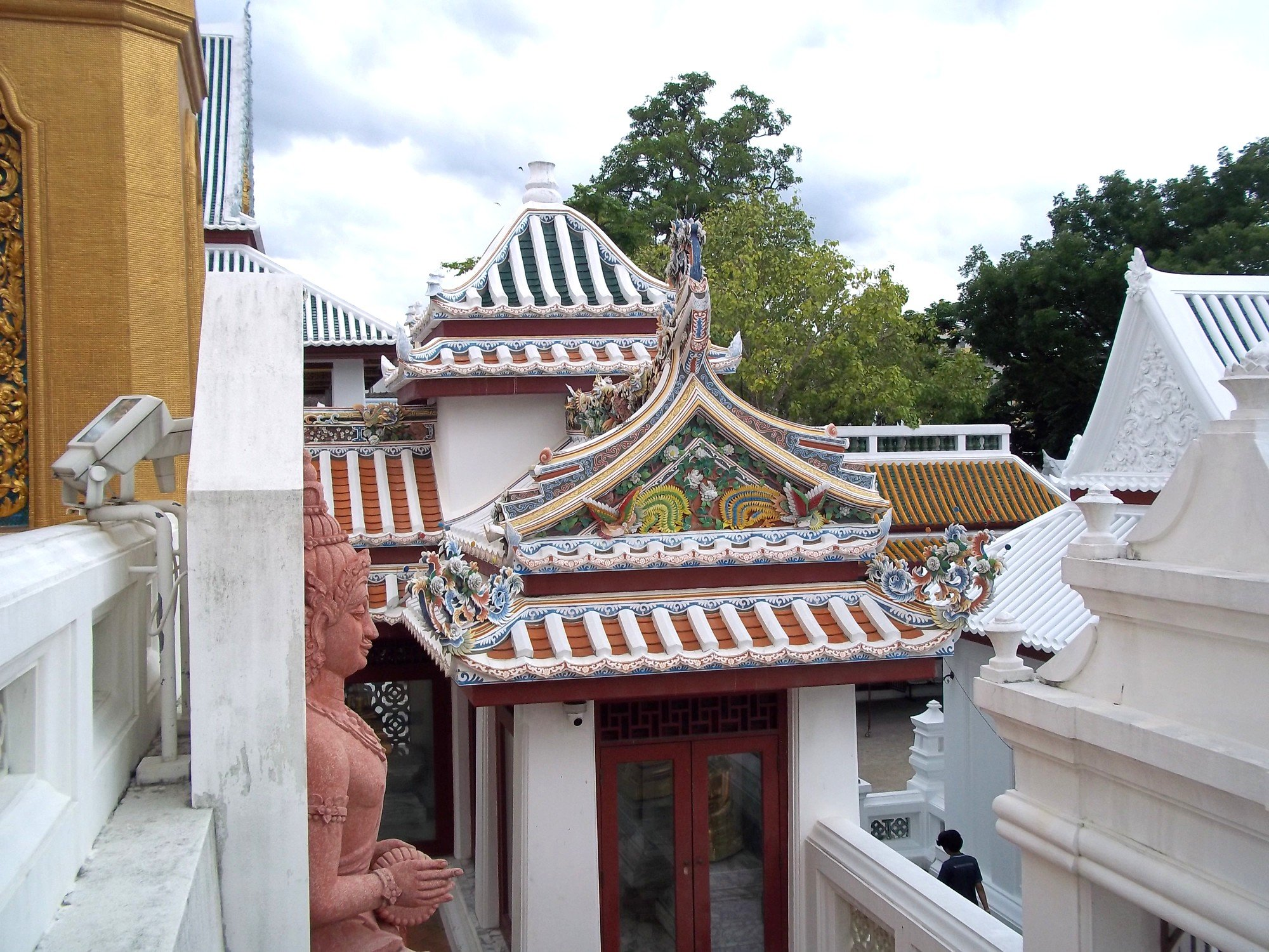 Chinese style buildings at Wat Bowonniwet