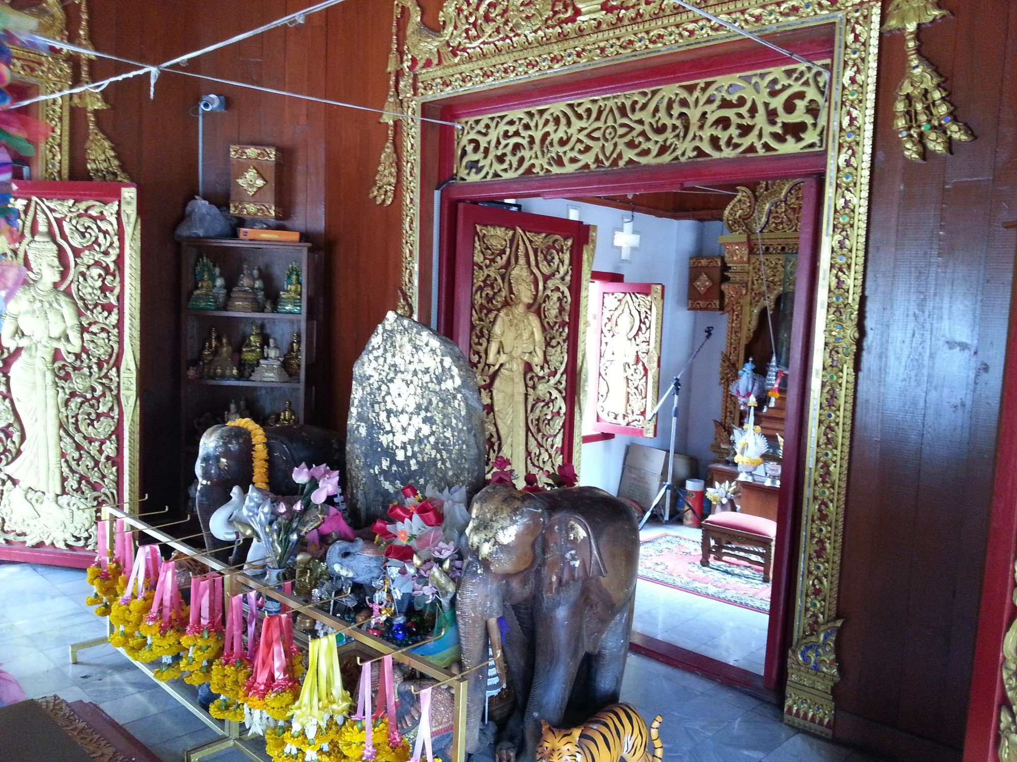 Inside the Phrae City Pillar Shrine