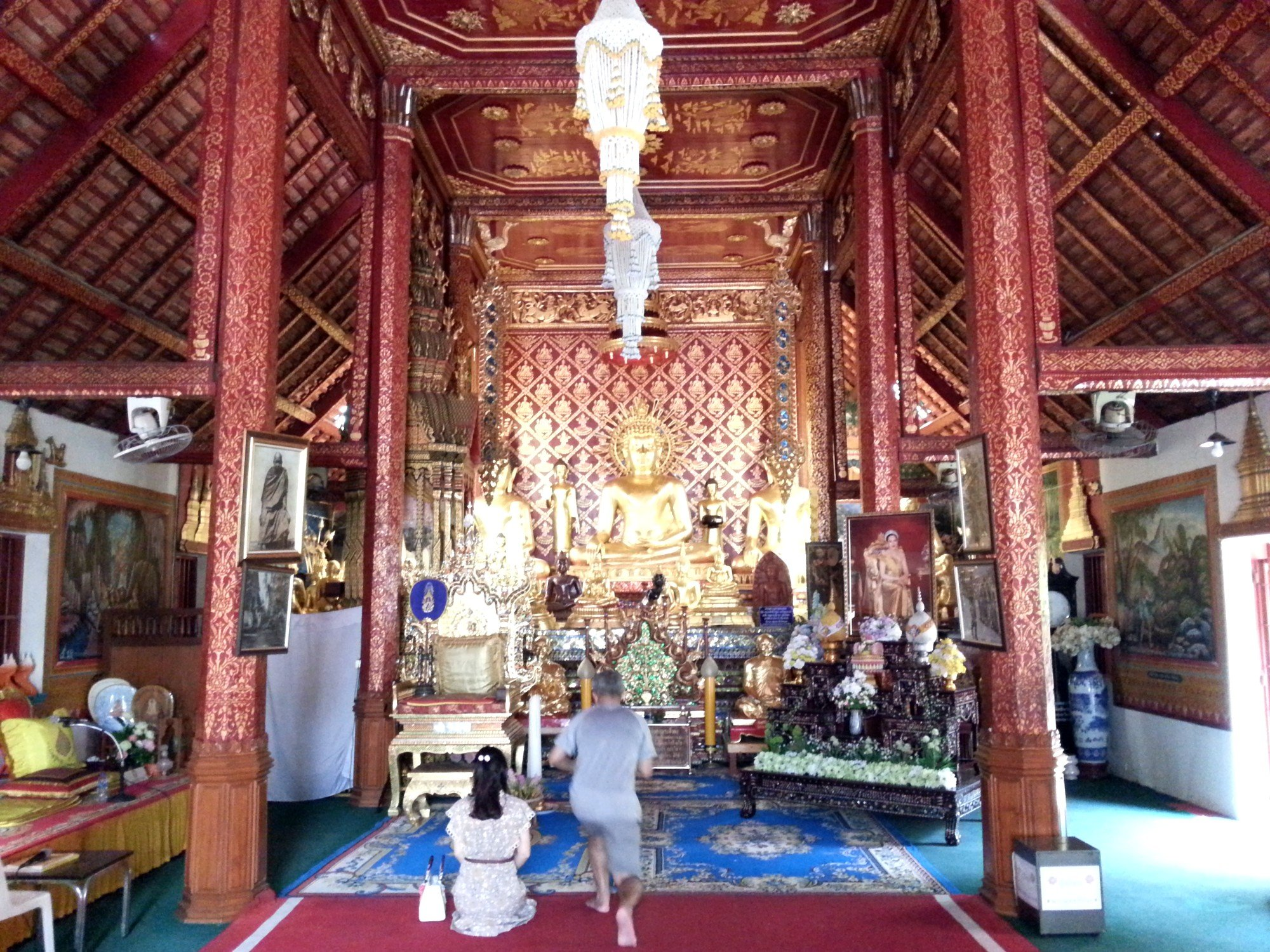 Inside the ordination hall at Wat Phra Sing