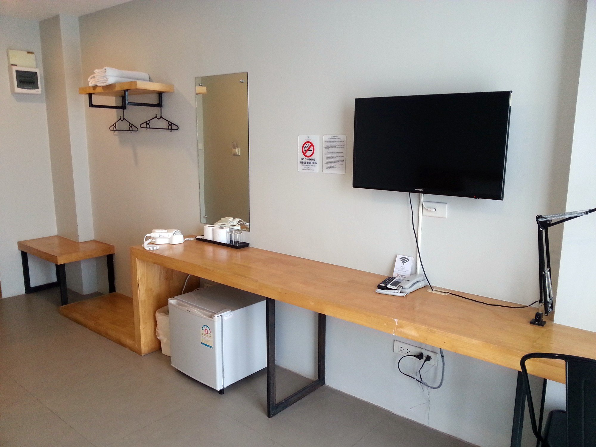 Room facilities at the Easy Hotel