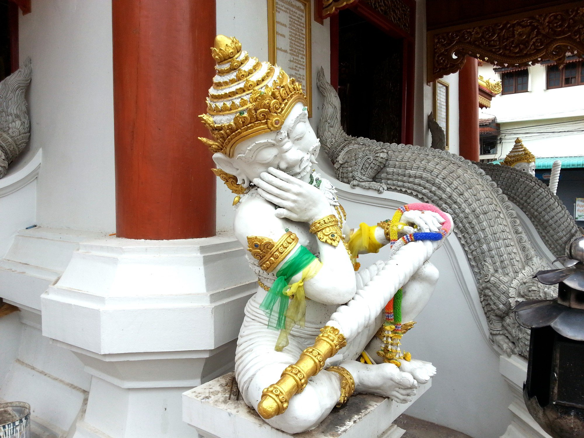 Yaksha guardian warrior at Phae City Pillar Shrine