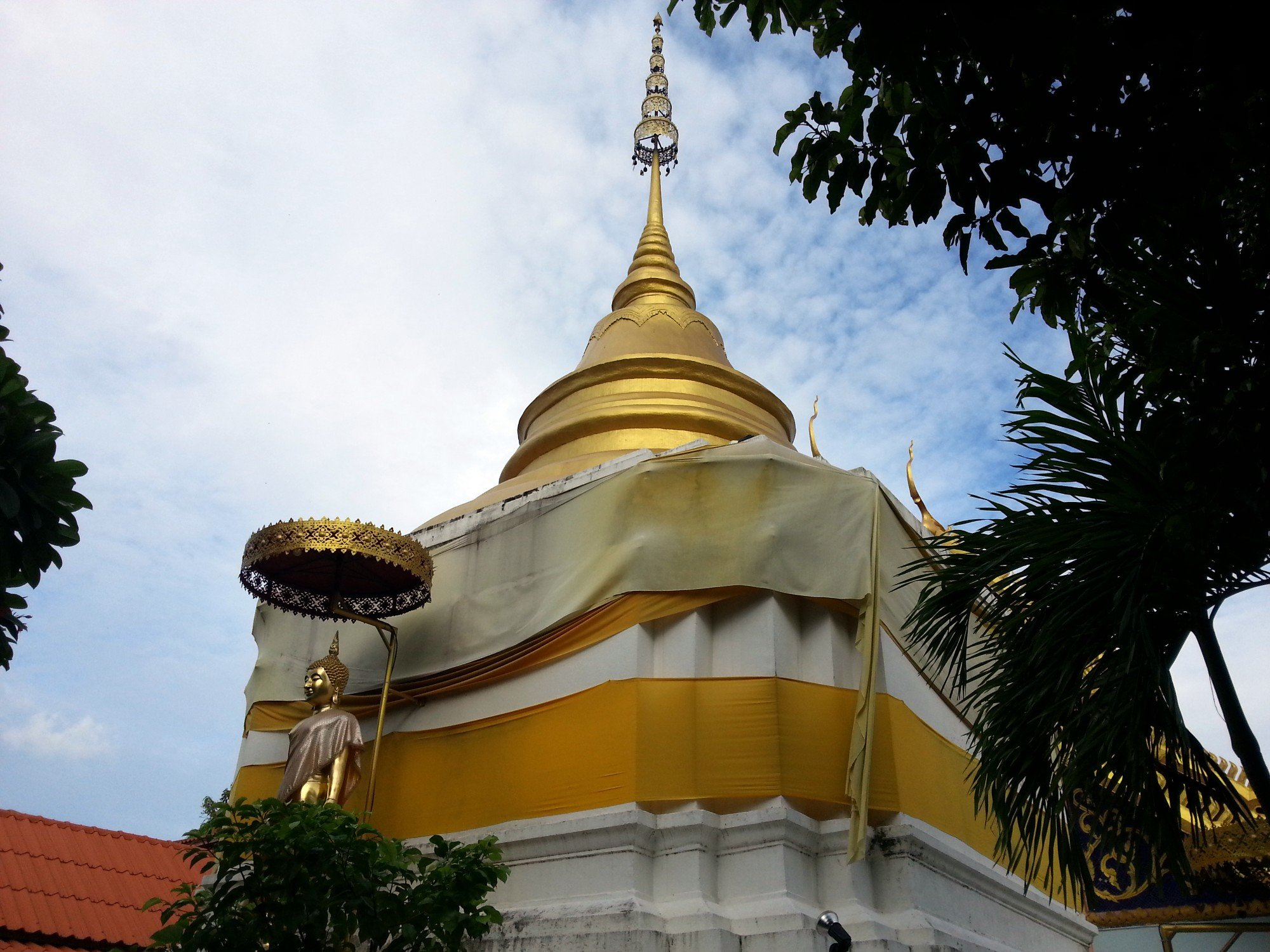 Chedi at Wat Pratu Ton Phueng