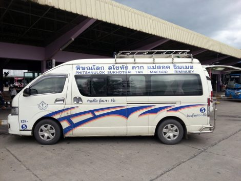 Minivan to Mae Sot
