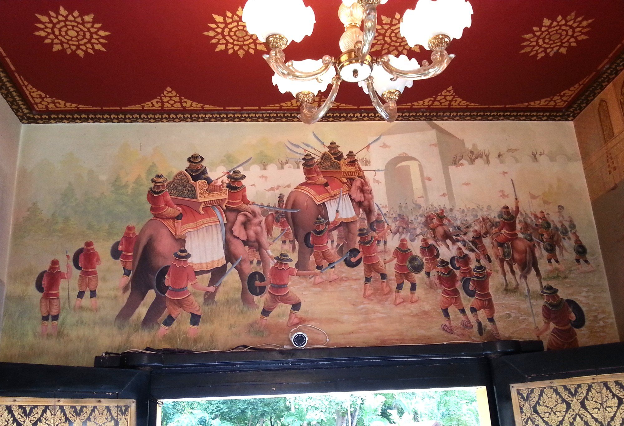 Murals telling the story of King Taksin's life