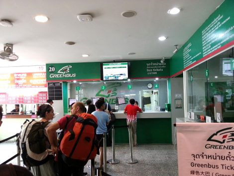 Ticket offices at Chiang Mai Bus Terminal 3