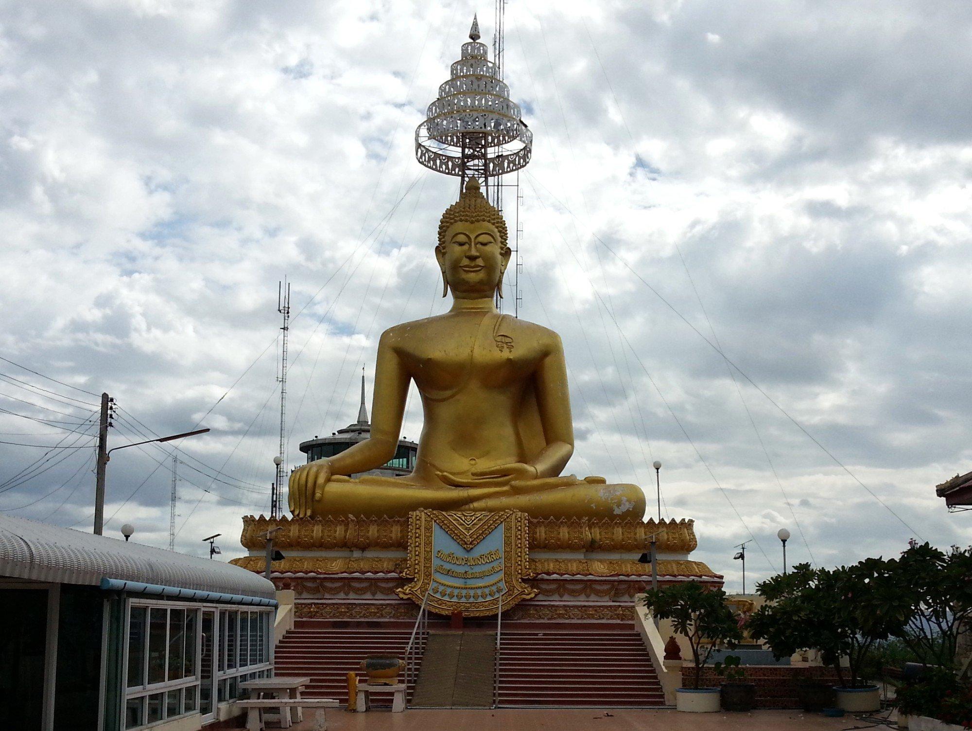 Hill top Buddha statue at Wat Khiriwong