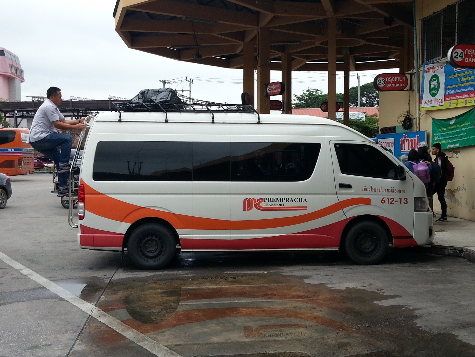 Minivan to Pai at Chiang Mai Bus Terminal 2
