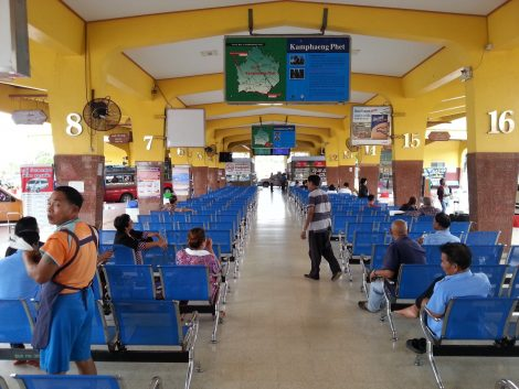 Waiting area at Kamphaeng Phet Bus Terminal