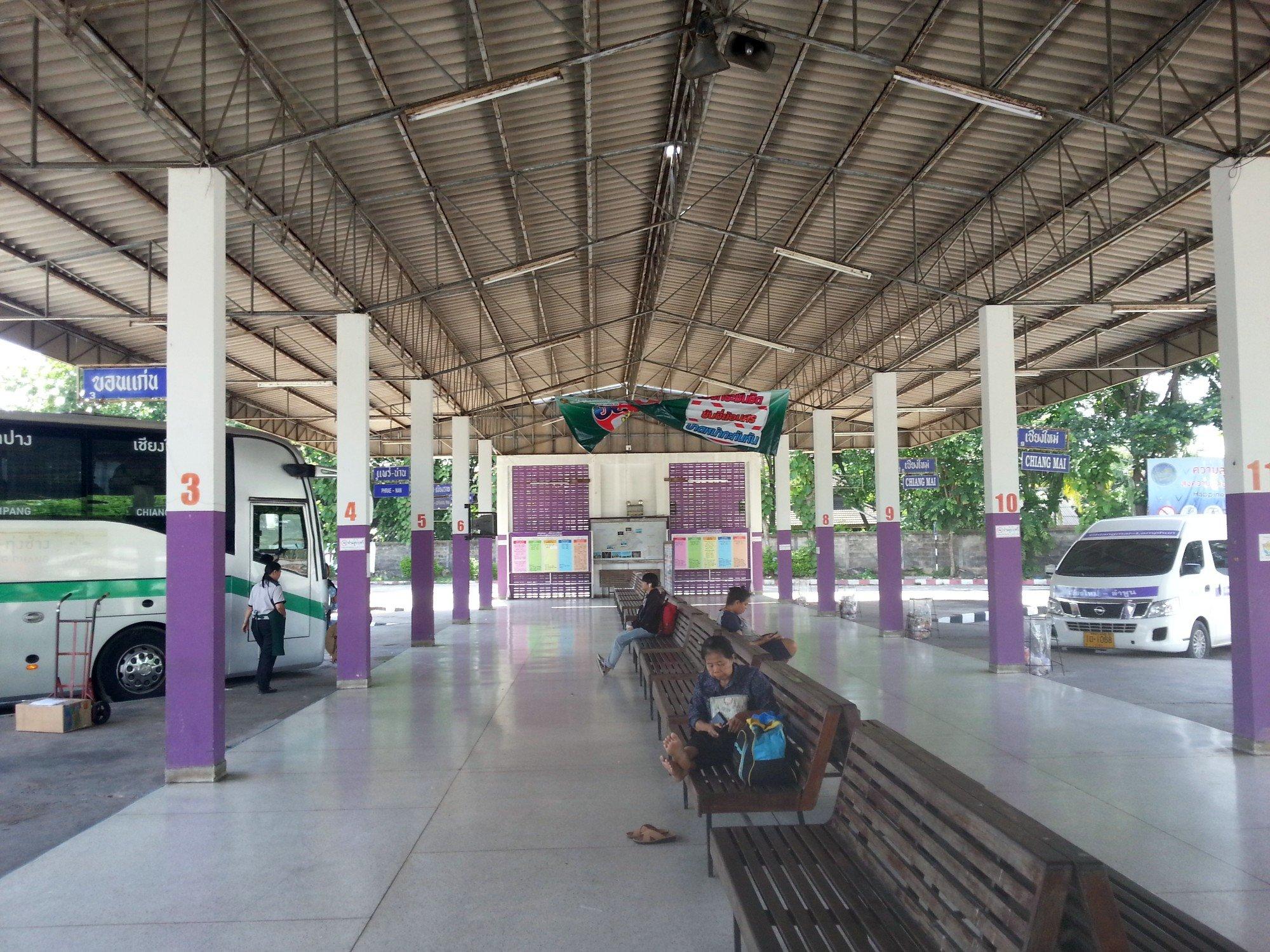 Waiting area at Lamphun Bus Station